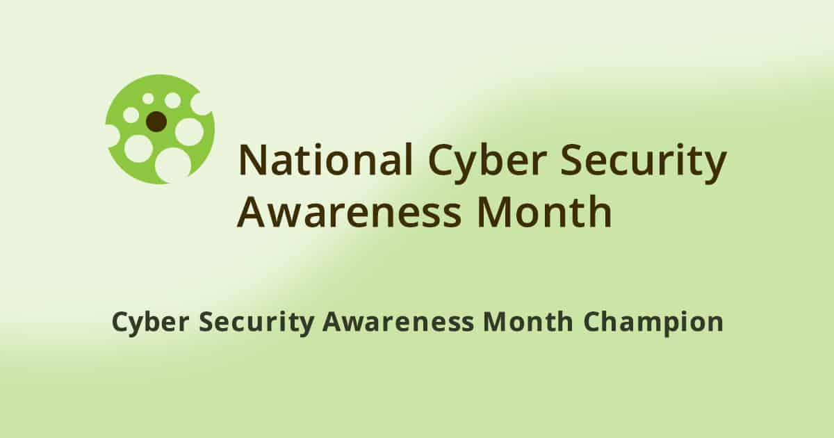 Cyber Security Month Champion