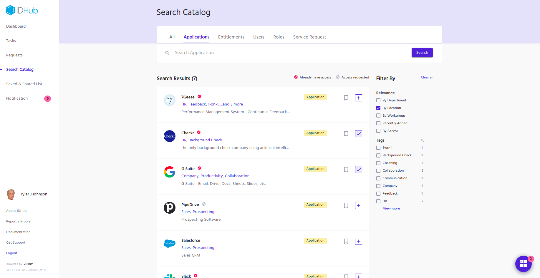 Search Catalog Page